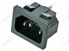 Разъем (4011) AC-015 штекер на корпус с защелками 250V; 10A