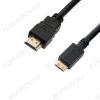 Шнур (AC-HD-007-2B) HDMI шт/MINI HDMI шт 1.5м Plastic-Gold