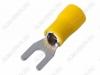 Клемма вилочная (№54) d=4.3мм SV5.5-4 изолированная сечение 3.5-5.5 мм2; желтая