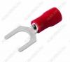 Клемма вилочная (№55) d=5.3мм SV1.25-5 изолированная сечение 0.5-1.5 мм2; красная
