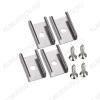 Держатель SL-MINI-8 (019349)  для профилей SL-MINI-8-2000 ANOD, SL-MINI-8-H12-2000 ANOD комплект: 4 держателя, 4 шурупа; металл