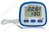 Термометр цифровой C607 Измерение наружной и внутренней температуры, часы, календарь; (гарантия 6 месяцев)