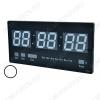 Часы электронные настенные JH-4622Y индикация белая Календарь: день недели, месяц, год; Термометр встроенный (цельсий);  -9 до +50  Интерфейс русскоязычный; корпус чёрный;