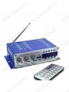 Радиоконструктор Усилитель 2х20Вт с медиаплеером USB/MP3/FM HY500 Количество каналов 2*20Вт; Выход RMS; Вход 2*RCA; Питание 12В/5А -5.5мм гнездо; FM 87.5-108мГц; Размер 15.5*8.5*4см; пульт ДУ