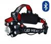 Фонарь налобный SL-700 светодиодный 1LED CREE T6 + 7LED Q5; Встроенный Bluetooth динамик;слот для microSD; разъем для наушников 3.5мм; питание от акку., зарядка через разъем microUSB