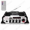 Радиоконструктор Усилитель 4х20Вт с медиаплеером USB/SD/FM/MIC-6.3мм HY604 Количество каналов 4*20Вт; Выход RMS; Вход 2*RCA; Питание 12В/5А -5.5мм гнездо; FM 87.5-108мГц; Размер 16.5*8.5*4см; пульт ДУ