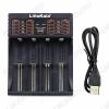 Зарядное устройство Lii-402 (зарядка 1-4 акб.) без БП в комплекте 1.2 V для аккумуляторов АА/ААА/SC/C, 3.7 V для аккумуляторов 26650/22650/18650/17650/16340/14500/10500 питание через шнур microUSB