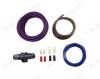 Набор для уст-ки автоусилителя 8Ga-BV LIGHT KIT Комплект силовых кабелей , 8 AWG(8,35мм2): 5м фиолетовый кабель, 1м серый кабель, управл. кабель, держатель  miniANL (40А), клеммы. Без RCA кабеля