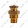 Сальник с двойной резьбой 1/2 и 3/4 для ввода кабеля в трубу (51-0610-2)