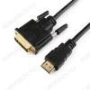 Шнур (CC-HDMI-DVI-6) HDMI шт/DVI-D шт 1.8м Plastic-Gold