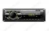 Автомагнитола  FP-302 green MP3; 2x40W, FM1/2/3 MW1/2 87,5-108 MHz, USB/SD/AUX,  DC12V, монохромный дисплей, фиксированная передняя панель