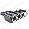 Разветвитель прикуривателя 3 в 1+2USB-разъема (1503) 2USB выхода по 5В 1А, кабель до 0,6м