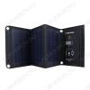 Солнечное зарядное устройство 16Вт SLM16 Выход USB: 5,5В/2А 2шт.;в развернутом виде 815х255х15 мм., в свернутом виде 255х195х34 мм.;0,80кг.