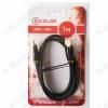 Шнур (DCC-HHBG100) HDMI шт/HDMI шт 1.0м (ver 2.0) 3D, UHD 4K Metal-Gold, нейлоновая оплетка, блистер