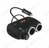 Разветвитель прикуривателя 3 в 1 KY-558A + 2 USB-разъема кабель 0,5м; 12-24В, Дисплей (USB 5V, 2A)