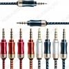 Шнур (TS-3260) 3.5 шт 4C/3.5 шт 4C  1.0м тонкий штекер, тканевая оплетка, цветной