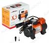 Автокомпрессор X3 (серия STANDARD) (CA-040-15S) Производительность 40 л/мин; Максимальное давление 10 Атм; Напряжение 12 - 13.5 В; Максимальный ток 14 А; Время непрерывной работы до 15 мин.