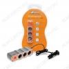 Разветвитель прикуривателяы на 3 гнезда + USB (оранжевый) (ASP-3U-03) Номинальное напряжение 12 В; Максимальный выходной ток 5А; Суммарная мощность потребителей 60Вт; Параметры USB 5В 500мА