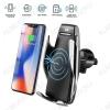 Держатель для телефона S5 + беспроводное ЗУ сенсорный держатель телефона на дефлектор с беспроводным ЗУ (5V, 2A/9V, 1.67A) В комплекте кабель USB-TAPY-C