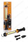 Фонарь гаражный (AFL-35W-05) светодиодный аккумуляторный COB LED; питание от встроенного (Li-ion) аккумулятора. зарядка от сети 220V или прикуривателя 12DVC