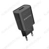 Сетевое зарядное устройство с выходом 2*USB, 2.1A, чёрное, BA8A LePlug;