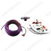 Набор для уст-ки автоусилителя 8Ga-BV2KIT (2х канальный) Комплект силовых кабелей 8 GA(8,3мм2): 5м. фиолет, 1м. серый, управл. кабель, 5м., акустич кабель 10м,  держатель пред. miniANL (40А), клеммы, RCA каб