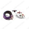 Набор для уст-ки автоусилителя 8Ga-BV4KIT (4х канальный) Комплект силовых кабелей 8 GA(8,3мм2): 5м. фиолет, 1м. серый, управл. кабель, 5м., акустич кабель 10м,  держатель пред. miniANL (40А), клеммы, RCA каб