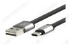 Датакабель microUSB Partner, USB 2.0, двухсторонний, плоский, (033304)