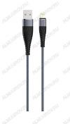 Датакабель Lightning SOLID,  USB 2.0, титановый, OLMIO (039048)