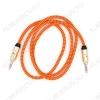Шнур (TS-3308) 3.5 шт стерео/3.5 шт стерео 1.0м тканевая оплетка, цветной