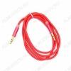 Шнур (TS-3311) 3.5 шт стерео/3.5 шт стерео 1.0м тонкий штекер, тканевая оплетка, цветной
