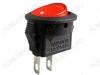 Сетевой выключатель RWB-105 OFF-ON красный круглый d=15.2mm; 3A/250V; 2 pin