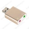 Переходник (50431) USB A штекер/2 x 3.5мм гнезда моно+стерео SF-710 (OT-PCA01) Внешняя USB звуковая карта 7.1