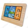 Метеостанция OT-HOM01 с радиодатчиком (цвет дерево) Измерение наружной и внутренней температуры, внутренней влажности, календарь, часы; питание шнур USB или 2хR6 радиодатчика 2хR6(нет в комплекте)