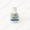 Энкодер а/м 5 pin с кнопкой (36) (R34) крепеж под гайку, L=15мм, металл, лыска