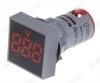 Вольтметр цифровой AD101-22VMS (12-500VAC) красный