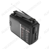 Радиоприемник RPR-190 УКВ 64,0-108.0МГц/АМ 530-1600кГц/СВ 3,6-22,МГц; Питание от 2xR20/220В