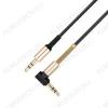 Шнур (UPA02) 3.5 шт стерео/3.5 шт стерео 1.0м угловой черный