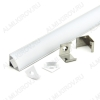 Профиль угловой GAL-GLS-2000-16-16 (522700)  для LED-ленты шириной до 12мм размеры: 2000*16*16мм; комплект: профиль, экран, 2 заглушки, 4 скобы, крепеж