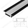 Профиль врезной MIC-F-2000 ANOD Black (015039)  для LED-ленты шириной до 10мм размеры: 2000*22*6мм; анодированный черный