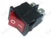 Сетевой выключатель RWB-207 (SWR-45)  красный с подсветкой 19,2*13,3mm; 6A/250V; 4 pin