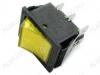 Сетевой выключатель RWB-506 (SC-767) желтый широкий с подсветкой 27,8*21,8mm; 15A/250V; 6 pin