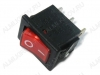 Сетевой выключатель RWB-206 (SWR-41) красный с подсветкой 19,5*13,2mm; 6A/250V; 3 pin