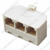 Переходник (234) телефонный штекер/3гнезда Для внешней проводки