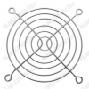 Решетка для вентилятора 92*92 FG-09/B-7 металлическая