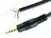 Разъем (013) 2.5мм штекер 4-х полосный на кабель (с кабелем 1.5м)