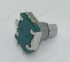 Потенциометр энкодер а/м EC11-9,5F-S 5 pin нажимной Вал 10 мм, лыска