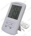Термометр цифровой TM898A Измерение наружной и внутренней температуры, часы/таймер; (гарантия 6 месяцев)