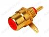 Разъем (136) RCA гнездо на панель красный (RP-1) Gold
