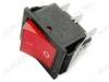 Сетевой выключатель RWB-506 (SC-767) красный широкий с подсветкой 27,8*21,8mm; 15A/250V; 6 pin